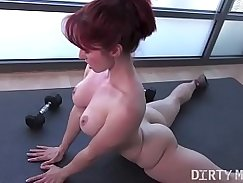 Super hot t.s red head moves from trainer mouth to ass