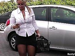 Chubby Blonde Nympho Spreads Legs