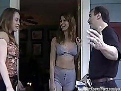 Horny skinny wench seduces her curvy neighbor
