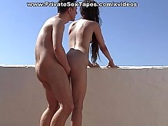 Wives playing with girlfriends body