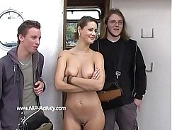 Vanessa Agares gets naked in public