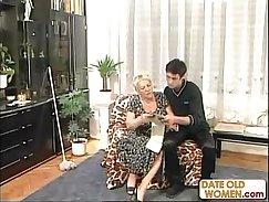 Beautiful blonde grandmother fucking professional