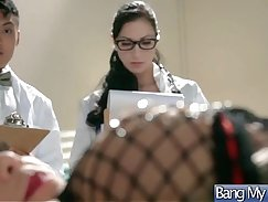 Crazy doctor teaches how to seduce a patient in her rubber