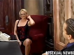Bisexual hunk cock-whore befuddling in orgy
