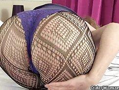British granny Valery Rose has ingenious sex
