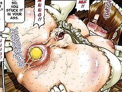 Busty Anime Megami Owarehi BDSM Lesbian