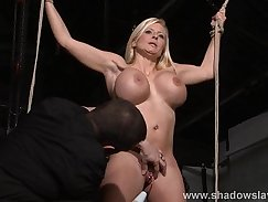 Bdsm slave and brutal morning punishment Ivy impresses with her giant tits