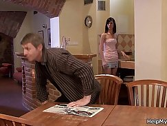 Classy lady wife eats ejaculations delight