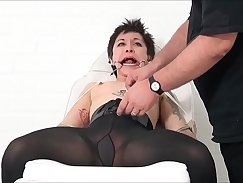 Asian bondage with cute maid being humiliated