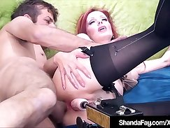Cock addicted cougar flirts with sex machine