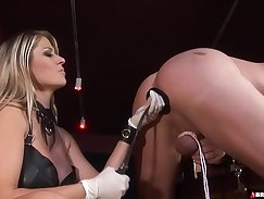 Busty femdom anal until creampie passes
