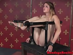 Beauties wanking in the air during BDSM