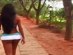 Latina tranny gets a load on her head after being teased