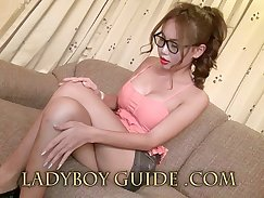 Chubby Thai ladyboy serviced her oversized boir
